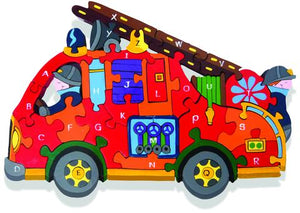 ALPHABET FIRE ENGINE JIGSAW PUZZLE