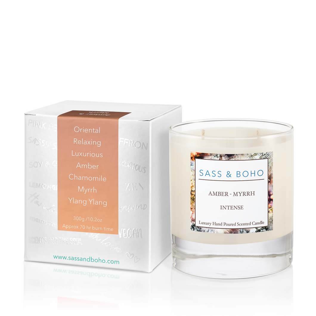 Double Wick Candle - Amber & Myrrh Intense