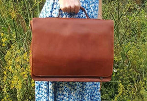 Tinnakeenly Pure Leather Satchel Case