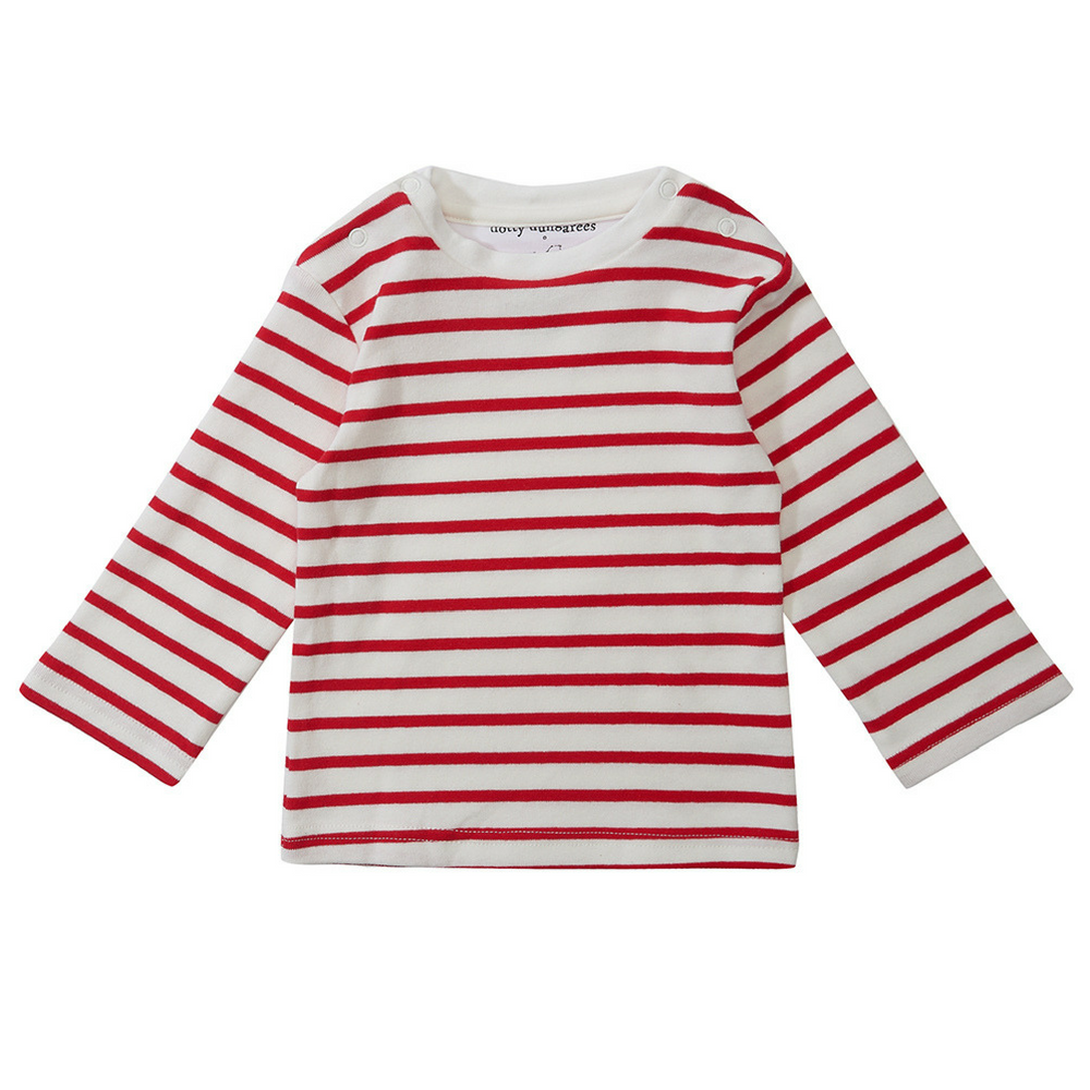 Red Stripe Long Sleeved Tee