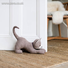 Stretching Cat Doorstop Espresso