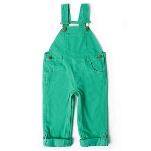 Emerald Green Denim Dungarees