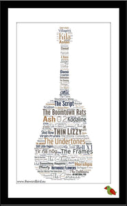 Irish Bands A3 Poster
