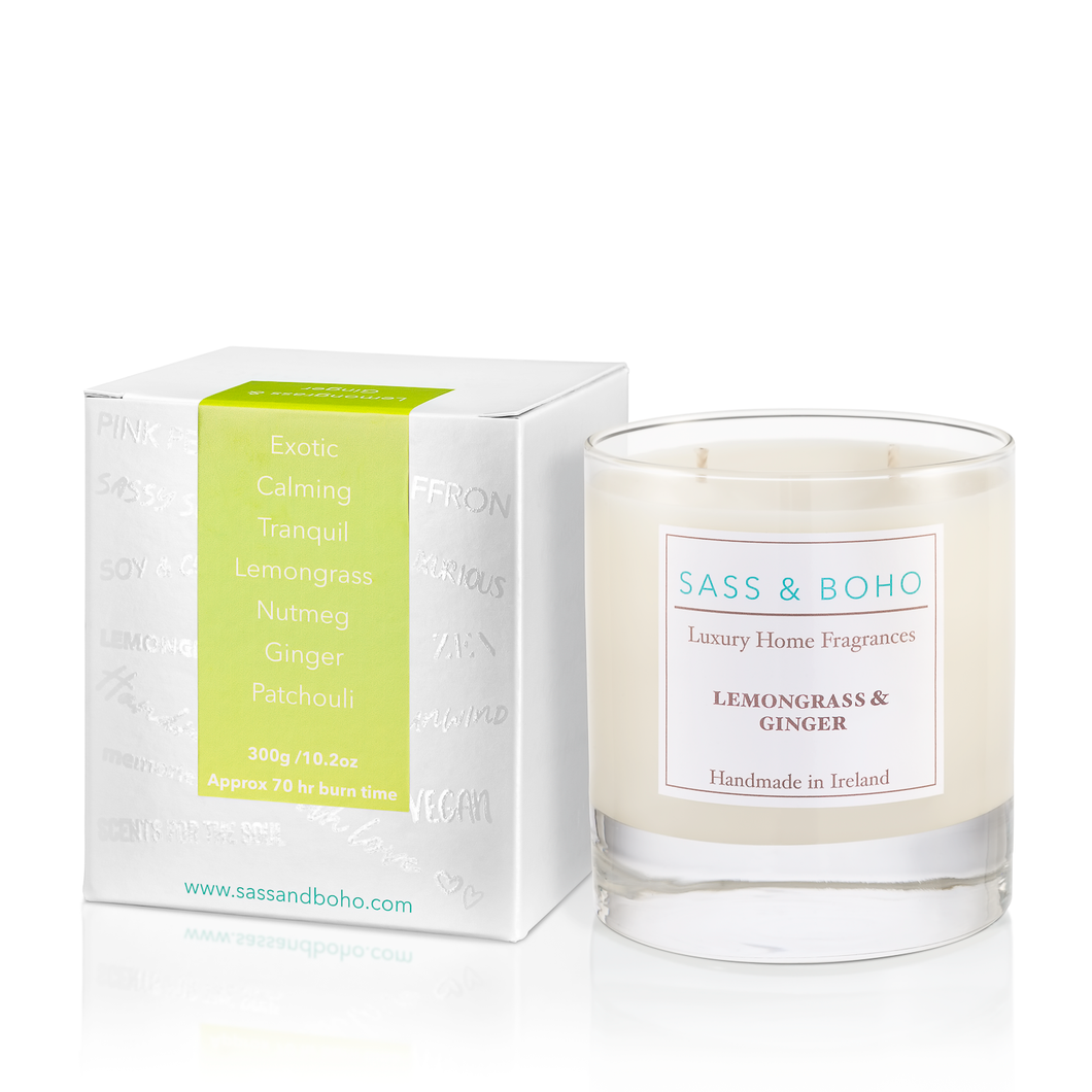 Double Wick Candle - Lemongrass & Ginger