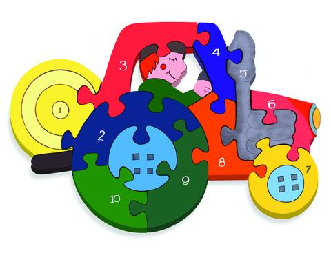 NUMBER TRACTOR JIGSAW PUZZLE