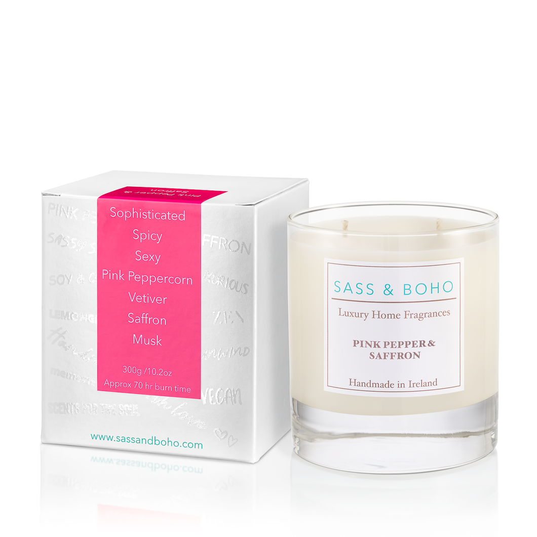 Double Wick Candle - Pink Pepper & Saffron