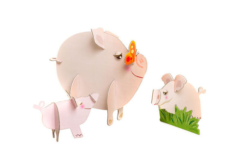 Popzle Polly Pig, Pip & Pixie Piglets