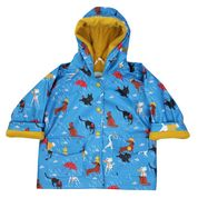Cats & Dogs Print Raincoat
