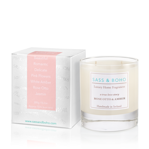 Double Wick Candle - Rose Otto & Amber - A True Love Story