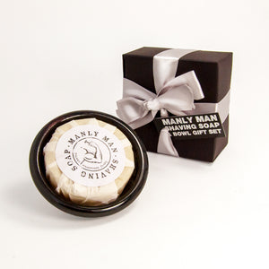 Dalkey Handmade Manly Man Shaving Soap & Bowl Gift Set