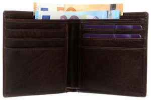 Tinnakeenly Classic Double Fold Flat Wallet