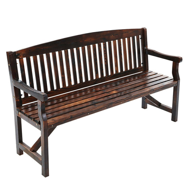 Gordon Walnut 3 Seater Garden Bench Chair