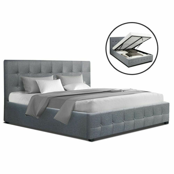 Rover Grey Double Size Gas Lift Bed Frame