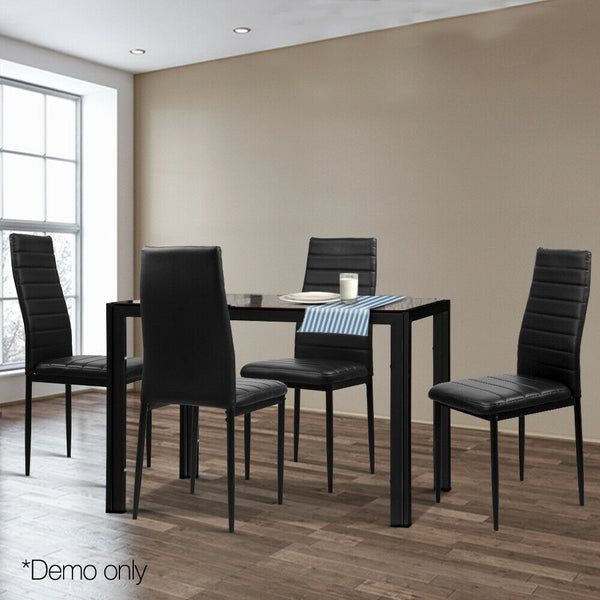 Modern Dining Table and Chairs Sets Black