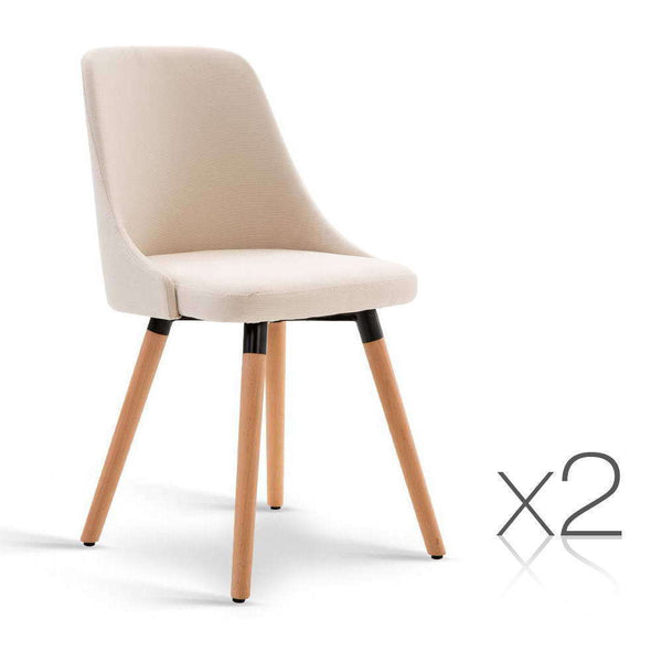 2x Seno Beige Dining Chair