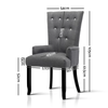 Cayes French Provincial Grey Dining Chair