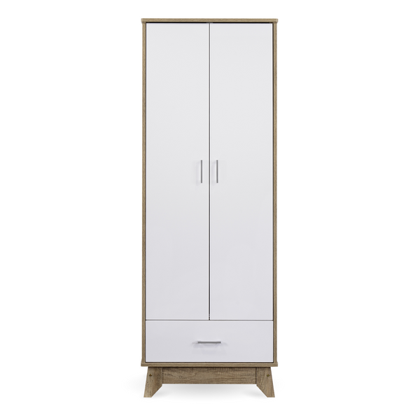 Scandi White Oak Drawer Wardrobe