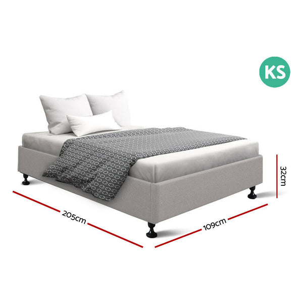 Tomi King Single Beige Bed Frame