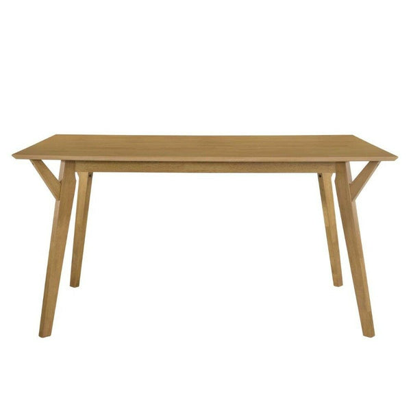 Solid Wood Light Oak Dining Table
