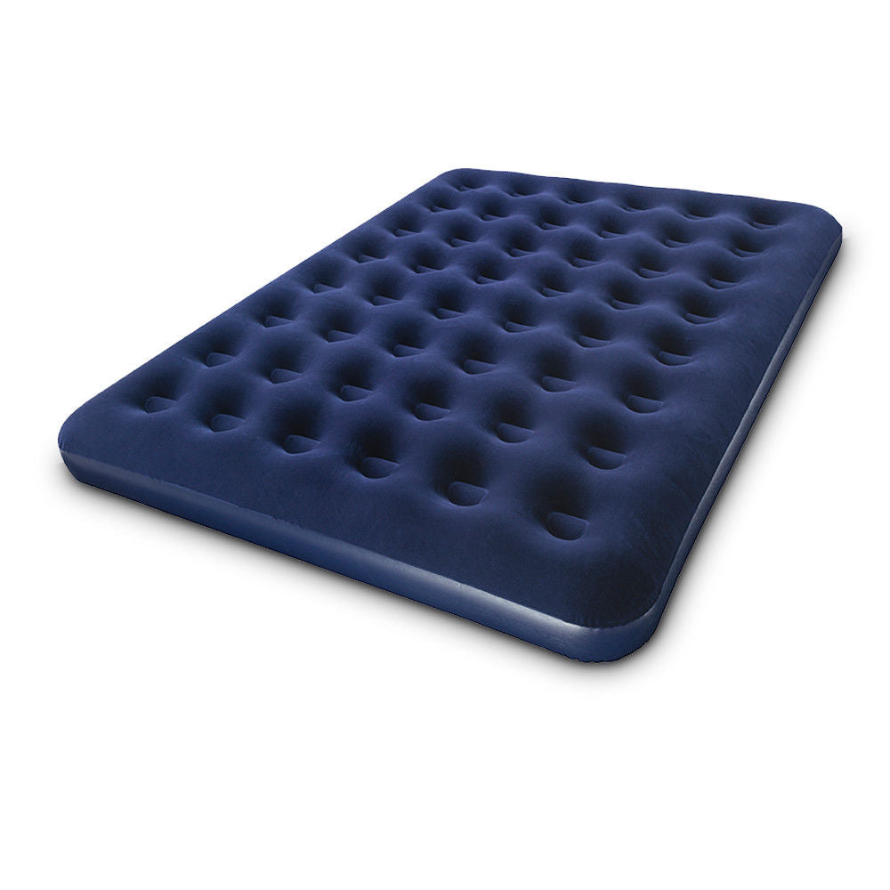 Queen Size Navy Inflatable Premium Air Mattress Bed