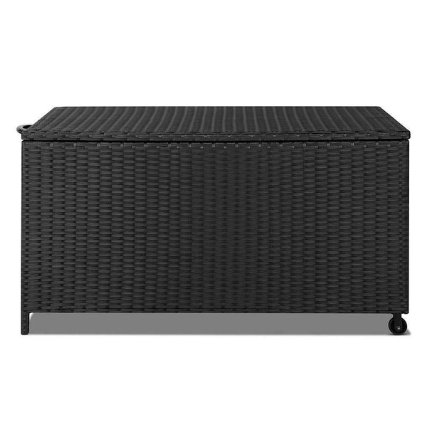 Gordon Black 320L Outdoor Wicker Storage Box