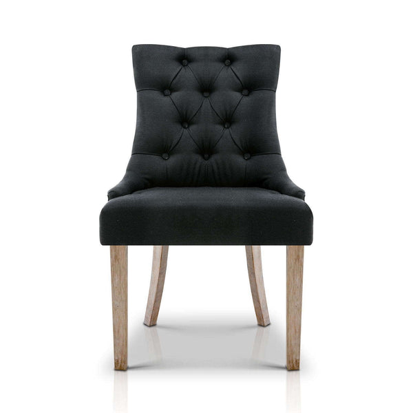 Cano Black French Provincial Dining Chair