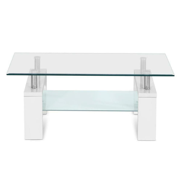 Loron Modern Tempered Glass Coffee Table