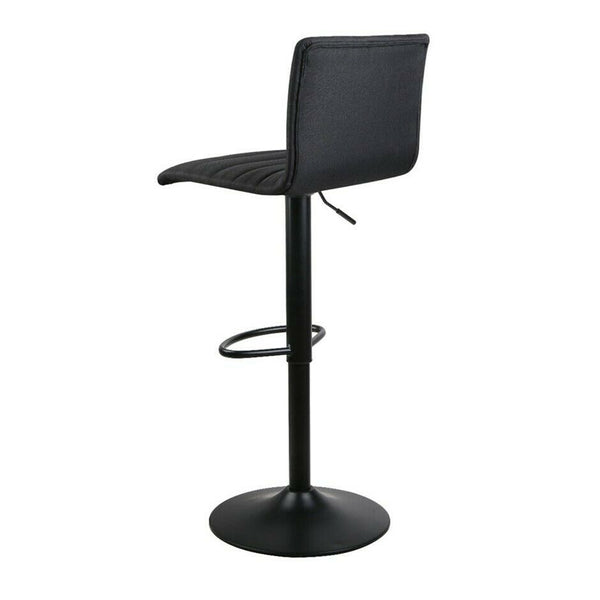 2x Ano Fabric Black Bar Stool