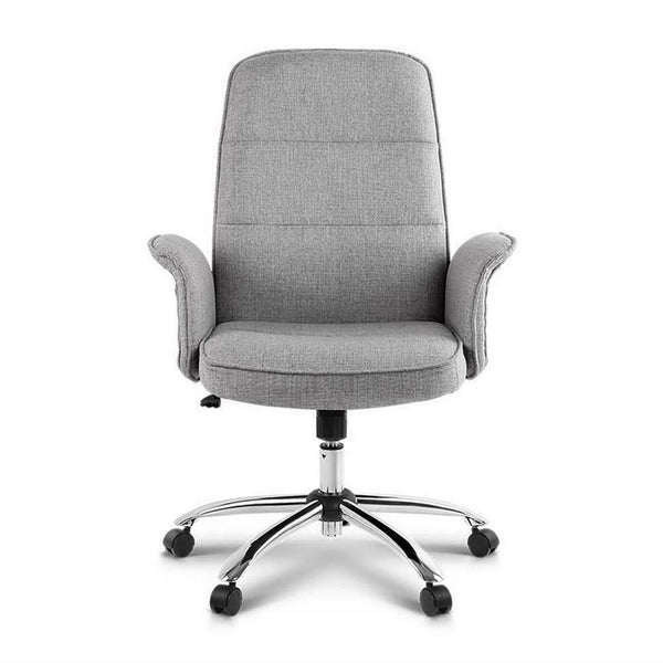 Leno Grey Fabric Office Chair