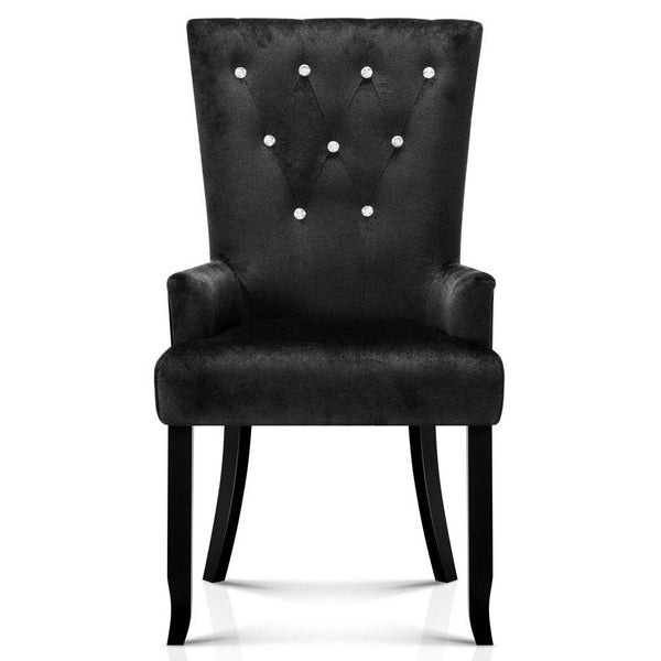 Ano Black French Provincial Dining Chair