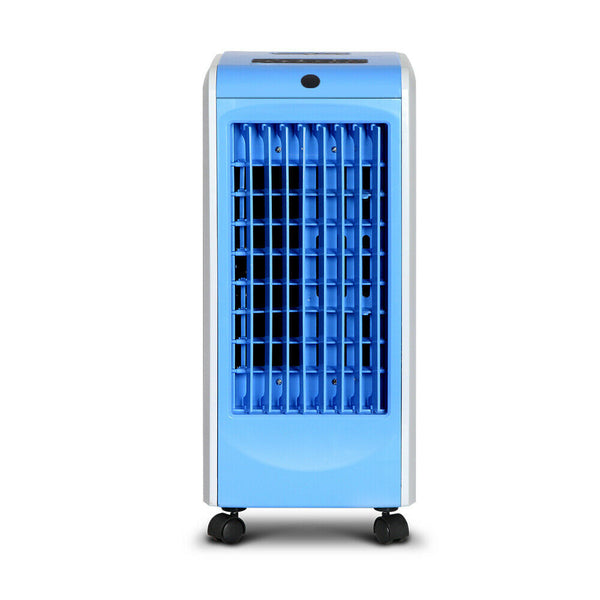Portable Blue Remote Air Cooler and Humidifier Conditioner