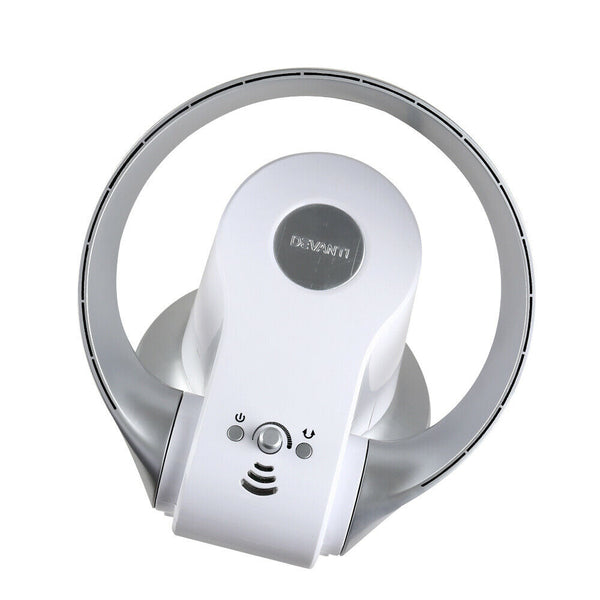 Bladeless Remote Silver Wall Fan