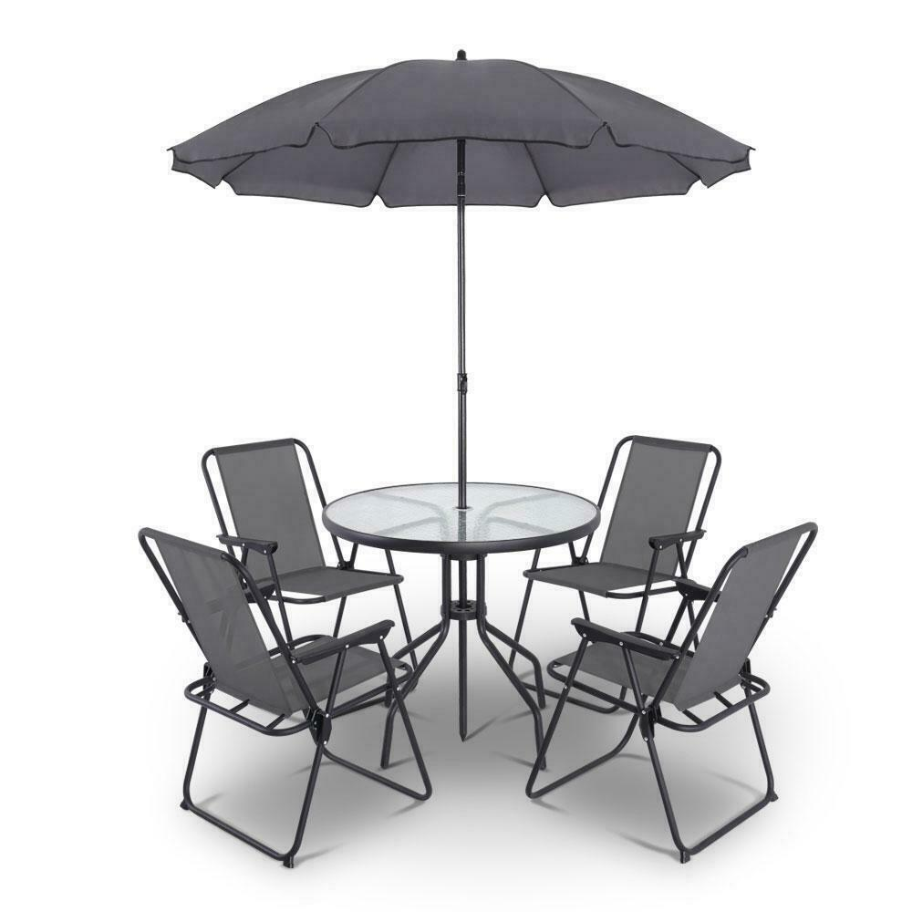 Gordon 6 Piece Outdoor Grey Dining Set