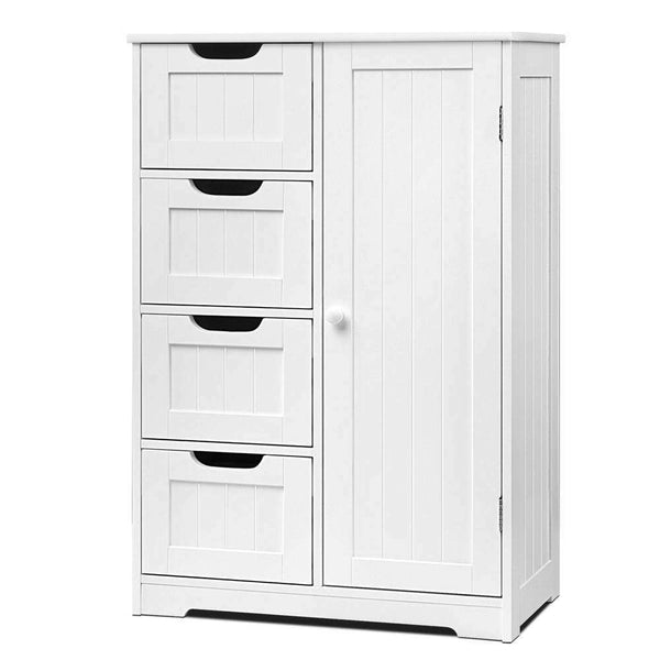 Bathroom Tallboy Storage Cabinet White