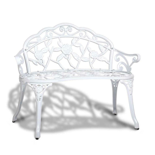 Gordon White Victorian Garden Bench