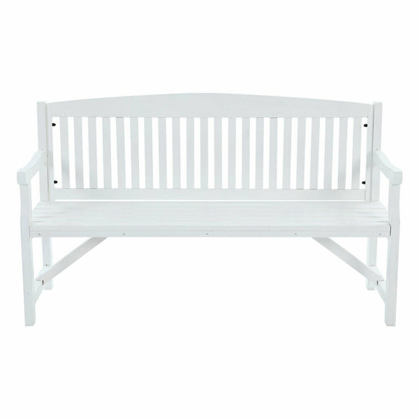 Gordon White Wooden 3 Seater Garden Bench Chair