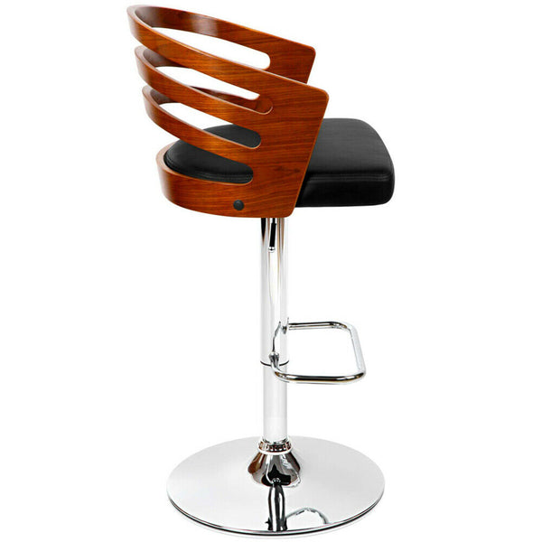 Valero Black Leather Bar Stool