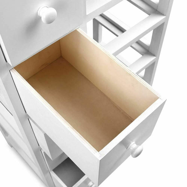 Lovren White 5 Basket Storage Unit