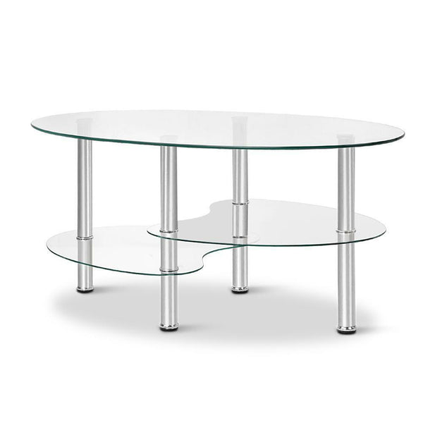 Hugo 3 Tier Glass Coffee Table