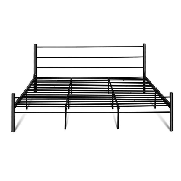 Hano King Size Black Metal Bed Frame