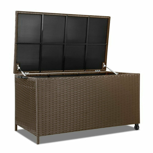 Gordon 320L Portable Brown Outdoor Wicker Storage