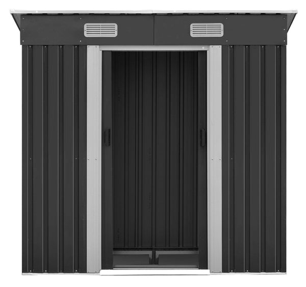 Metal Base Garden Shed Grey