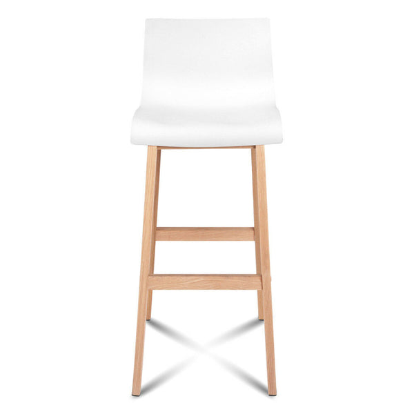 2x Algo White Beech Wood Bar Stool