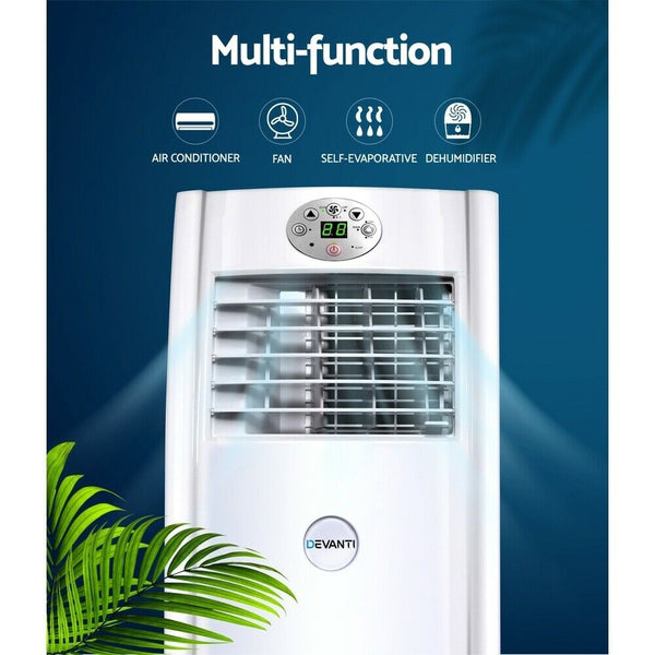 4 in 1 White Portable Air Conditioner and Dehumidifier