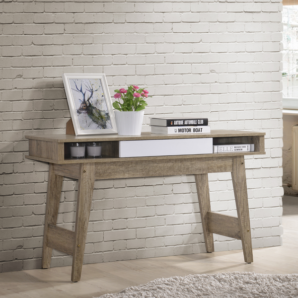 Minela Oak White Entry Hallway Side Table