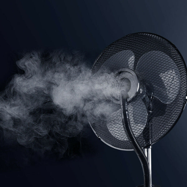 Portable White Misting Fan with Remote Control