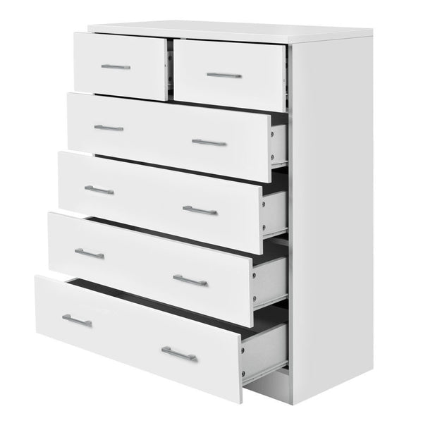 Tallboy Dresser with Drawers White