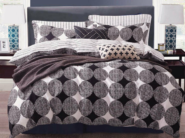 3Pcs King Size Cover Set Cotton Circular Quilt