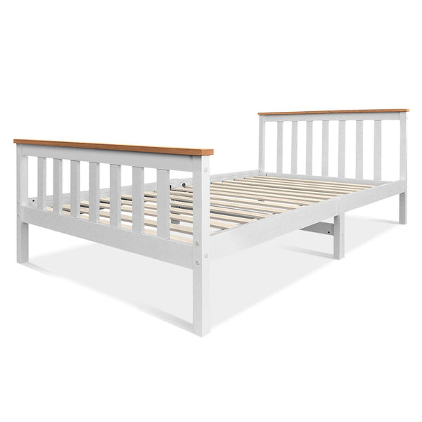Venus White King Single Wooden Bed Frame
