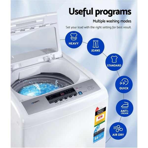 7kg Top Load Washing Machine (White)